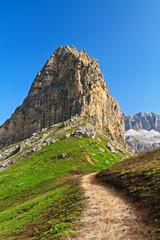 Dolomiti - path over Pordoi pass