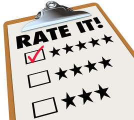 Rate It Stars Reviews Feedback Clipboard