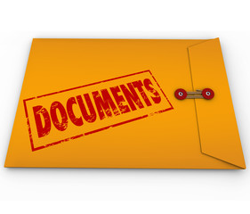 Documents Sealed Yellow Envelope Important Devliery Records