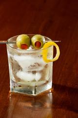 dirty vodka martini