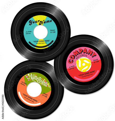 vintage 45 record label designs 1