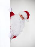 Christmas Santa with banner.