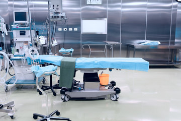 high-tech surgical operating room