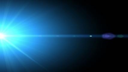 Lens flare transition