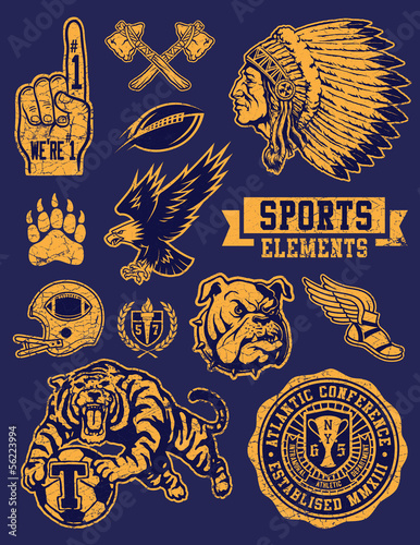 Sports Mascots and Logo Vector Set