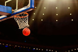 Fototapety Basketball basket with all going through net