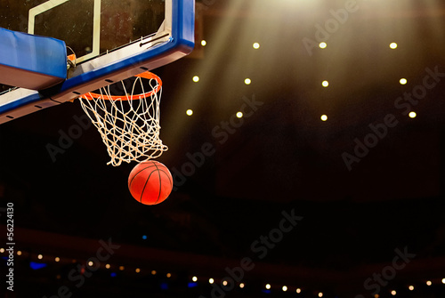 Poszter Basketball basket with all going through net