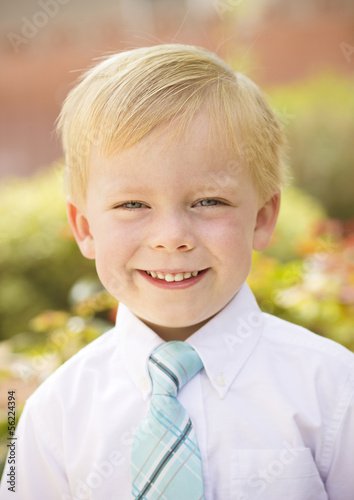 Handsome young Boy Portrait. Close up view of his cute face