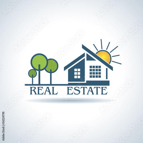Vector illustration  for Real estate business design with trees