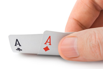 Hand and aces