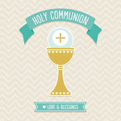 First Holy Communion Card template