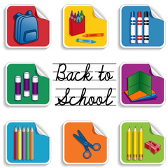 Back to School Stickers, elementary, daycare, preschool