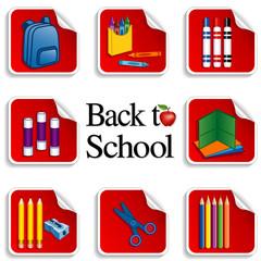 Back to School Stickers, apple, daycare, preschool
