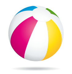Multicolored beach ball