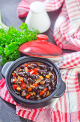 black beans with chili