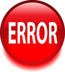 Круглый красный знак с надписью ERROR