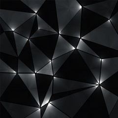 abstract geometric background with perspective shiny lights