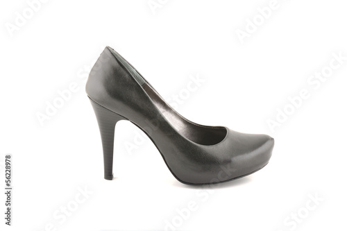 Woman black shoe