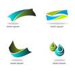Set - abstract graphic design, geometries