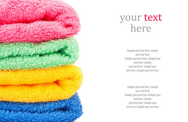 Bath towels & text