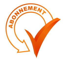 abonnement sur symbole validé orange