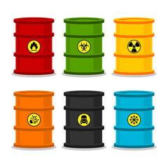 Barrels with dangerous substances
