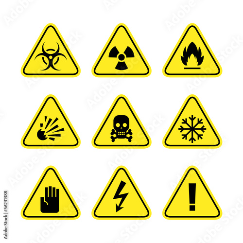 Warning signs of danger