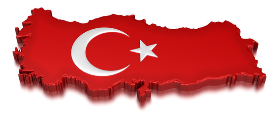 Turkey  (clipping path included)
