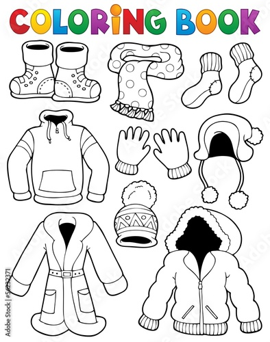 Coloring book clothes theme 3