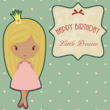 Princess retro birthday card