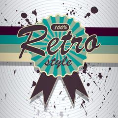 Vector retro background