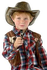 Junge im Cowboy Kostüm