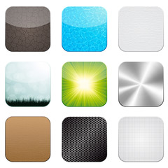 Vector app icon set
