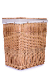 clothes basket with straw