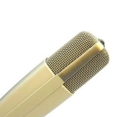 Freigestelltes Studiomikrofon