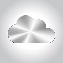 Metal cloud icon