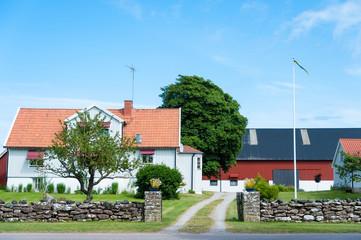 Bauernhof auf der Insel Öland, Schweden
