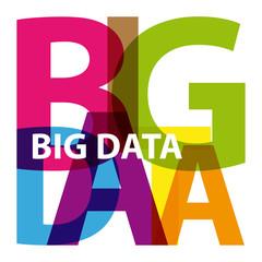 Vector Big Data. Broken text