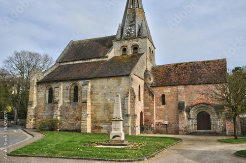 France, the church of Gaillon sur Montcient  in Les Yvelines