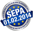 """Button Banner """"SEPA"""" Datum Europa"""