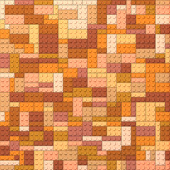 Toy bricks color background - orange and brown