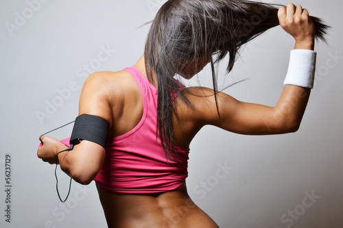 beautiful fitness woman , studio shot