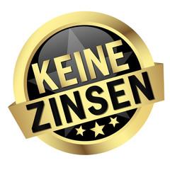 """Button mit Banner """" KEINE ZINSEN """""""
