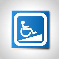 Etiquette : Handicap moteur rampe d'accès