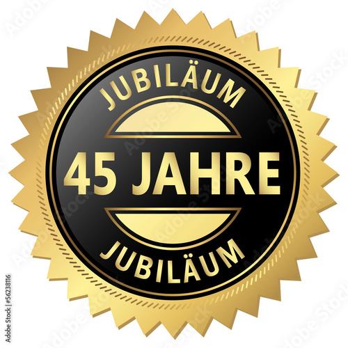 Jubiläum Button - 45 Jahre