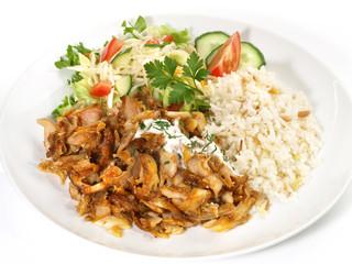 Dönerteller mit Reis