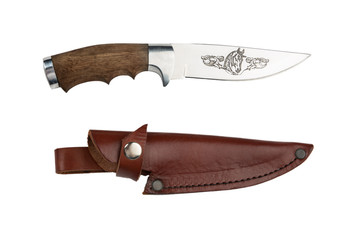 The hunting knife and sheath