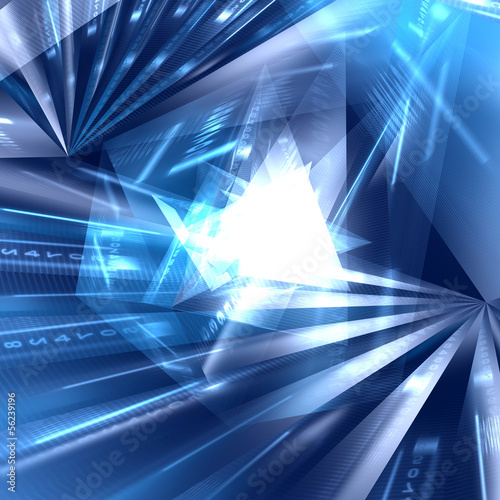 canvas print picture Abstract geometric blue background