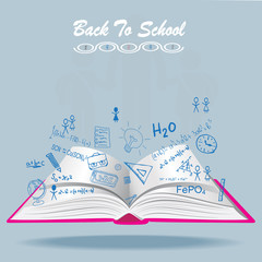 Welcome Back To School Drawing Vector illustration