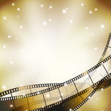 Fototapety background with retro filmstrip and stars